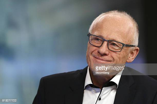 John Caudwell billionaire and founder of Phones4U Ltd reacts during a Bloomberg Television interview in London UK on Wednesday March 2 2016 UK...