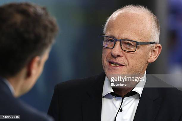 John Caudwell billionaire and founder of Phones4U Ltd speaks during a Bloomberg Television interview in London UK on Wednesday March 2 2016 UK...