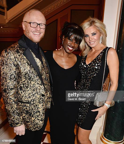 John Caudwell June Sarpong and Claire Caudwell attend a dinner hosted by John Caudwell on March 5 2014 in London England