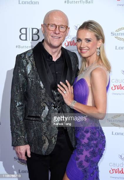 John Cauldwell and Modesta Vzesniauskaite attend the Butterfly Ball 2019 at The Grosvenor House Hotel on June 13 2019 in London England