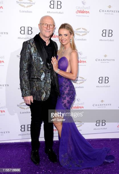 John Cauldwell and Modesta Vzesniauskaite attend the Caudwell Children Butterfly Ball 2019 at The Grosvenor House Hotel on June 13 2019 in London...