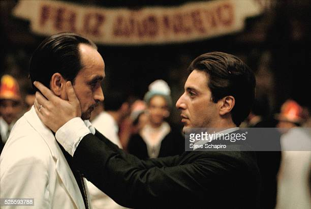 John Cazale and Al Pacino in a scene from The Godfather Part II