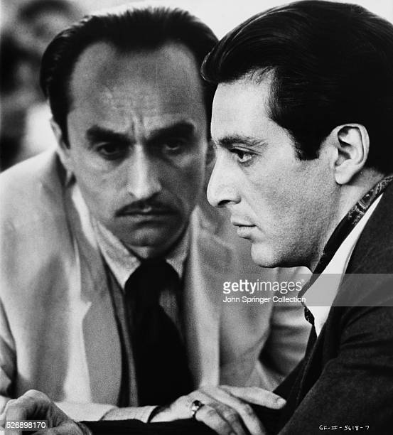 John Cazale as Frederico 'Fredo' Corleone and Al Pacino as Michael Corleone in Francis Ford Coppola's The Godfather Part II