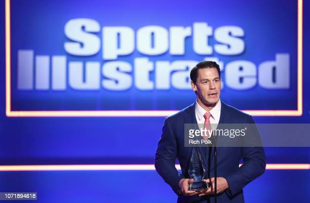 John Cena accepts the SI Muhammad Ali Legacy Award onstage at Sports Illustrated 2018 Sportsperson of the Year Awards Show on Tuesday December 11...