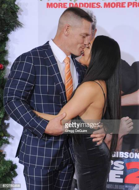 John Cena and Nikki Bella arrive at the premiere of Paramount Pictures' 'Daddy's Home 2' at Regency Village Theatre on November 5 2017 in Westwood...