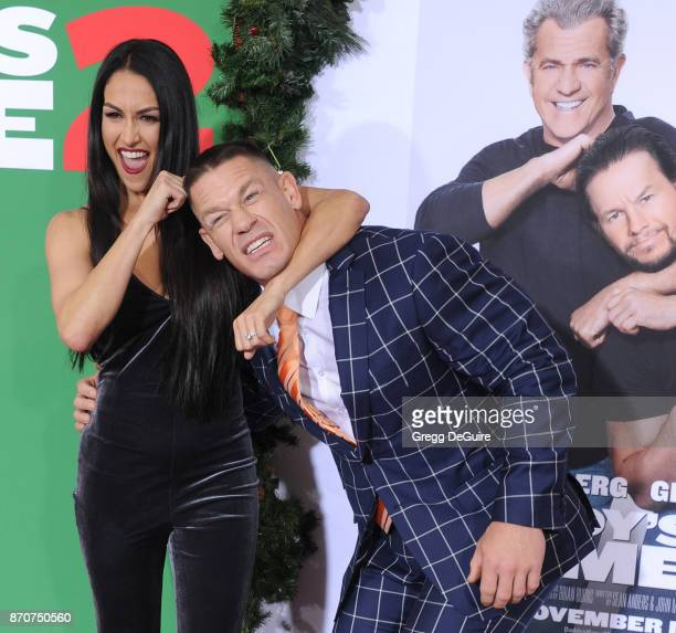 John Cena and Nikki Bella arrive at the premiere of Paramount Pictures' Daddy's Home 2 at Regency Village Theatre on November 5 2017 in Westwood...
