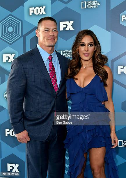 John Cena and Nikki Bella attend FOX 2016 Upfront at Wollman Rink on May 16 2016 in New York City