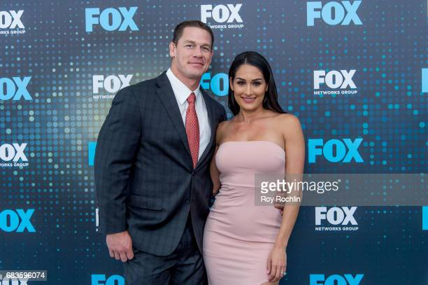 John Cena and Nikki Bella attend the 2017 FOX Upfront at Wollman Rink, Central Park on May 15, 2017 in New York City.
