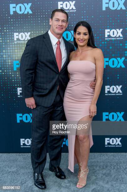 John Cena and Nikki Bella attend the 2017 FOX Upfront at Wollman Rink Central Park on May 15 2017 in New York City