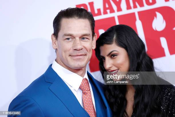 "John Cena and Shay Shariatzadeh attend ""Playing With Fire"" New York Premiere at AMC Lincoln Square Theater on October 26, 2019 in New York City."