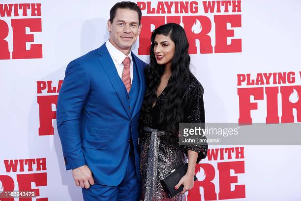John Cena and Shay Shariatzadeh attend Playing With Fire New York Premiere at AMC Lincoln Square Theater on October 26 2019 in New York City