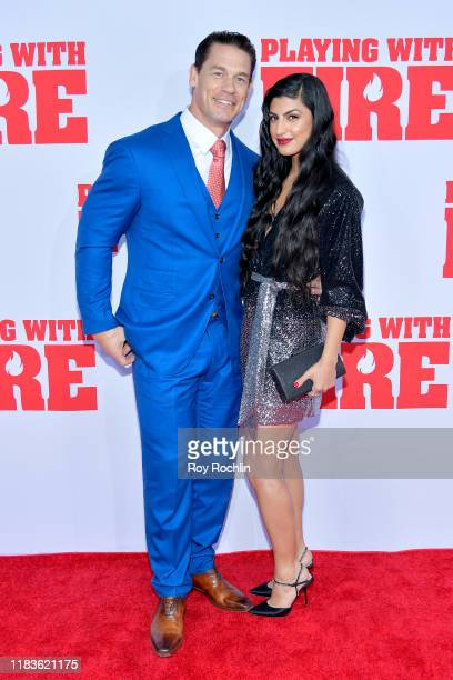 "John Cena and Shay Shariatzadeh attend the Paramount Pictures' ""Playing with Fire"" US Premiere at AMC Lincoln Square Theater on October 26, 2019 in..."