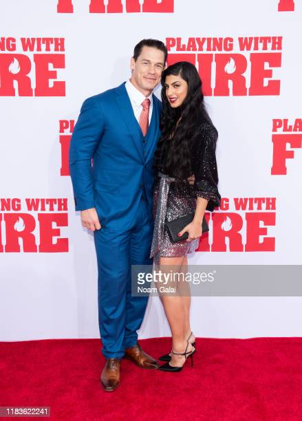 "John Cena and Shay Shariatzadeh attend the ""Playing With Fire"" New York premiere at AMC Lincoln Square Theater on October 26, 2019 in New York City."