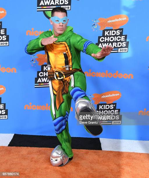 John Cena arrives at the Nickelodeon's 2018 Kids' Choice Awards at The Forum on March 24 2018 in Inglewood California