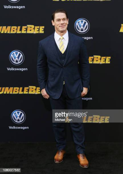 """John Cena arrives to the Los Angeles premiere of Paramount Pictures' """"Bumblebee"""" held at TCL Chinese Theatre on December 09, 2018 in Hollywood,..."""