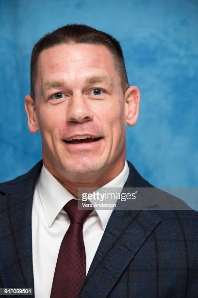 John Cena at the 'Blockers' Press Conference at The Montage Hotel on April 4 2018 in Beverly Hills California