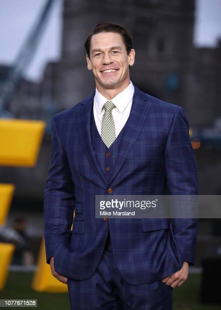 John Cena attends a photocall for Bumblebee at Potters Field Park on December 05 2018 in London England