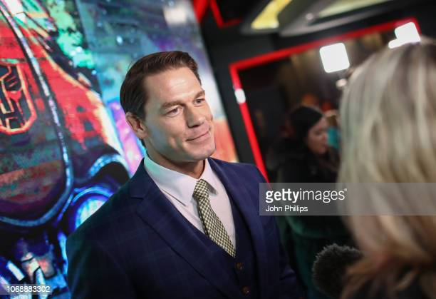 John Cena attends a special screening of Paramount Pictures' film 'Bumblebee' at Cineworld Leicester Square on December 5, 2018 in London, United...