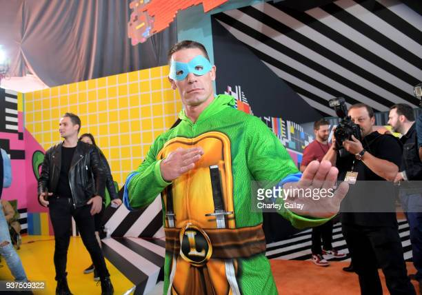 John Cena attends Nickelodeon's 2018 Kids' Choice Awards at The Forum on March 24 2018 in Inglewood California