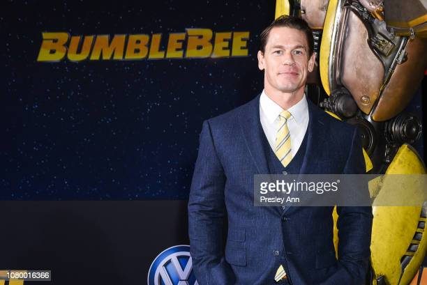John Cena attends Premiere Of Paramount Pictures' Bumblebee at TCL Chinese Theatre on December 09 2018 in Hollywood California