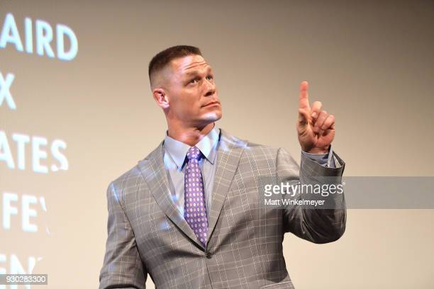 John Cena attends the 'Blockers' Premiere 2018 SXSW Conference and Festivals at Paramount Theatre on March 10 2018 in Austin Texas