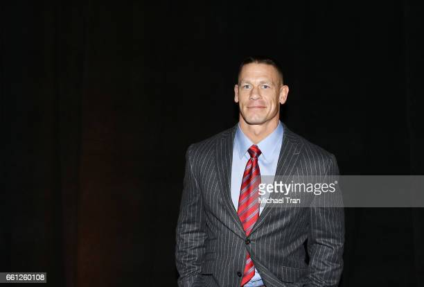 John Cena attends the CinemaCon 2017 Amazon Studios Delivering The Best In Independent Cinema held at Octavius Ballroom at Caesars Palace during...