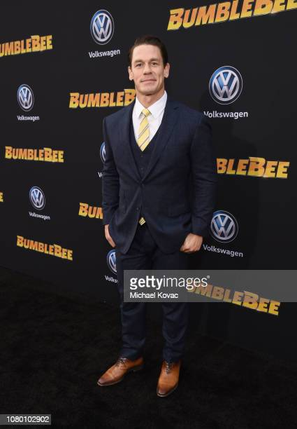 John Cena attends the global premiere of Paramount Pictures' film 'Bumblebee' on December 09, 2018 in Hollywood, California.