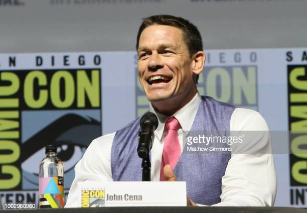 John Cena attends the Paramount Pictures' presentation for 'Bumblebee' at ComicCon International 2018 on July 20 2018 in San Diego California