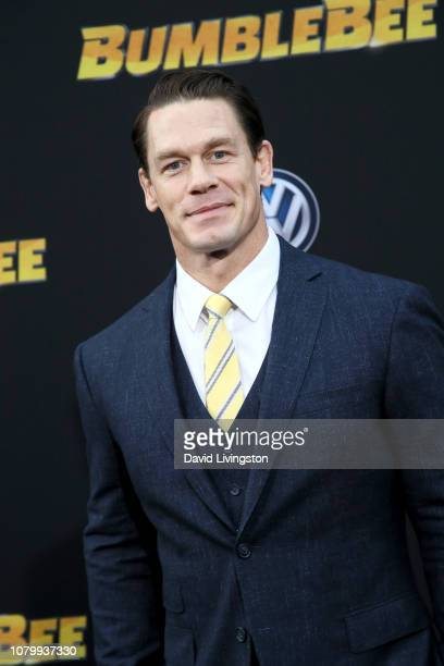 John Cena attends the premiere of Paramount Pictures' Bumblebee at TCL Chinese Theatre on December 09 2018 in Hollywood California