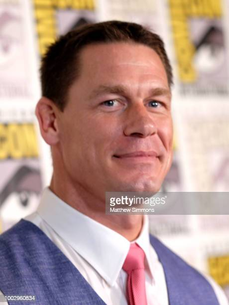 John Cena attends the red carpet for 'Bumblebee' at ComicCon International 2018 on July 20 2018 in San Diego California