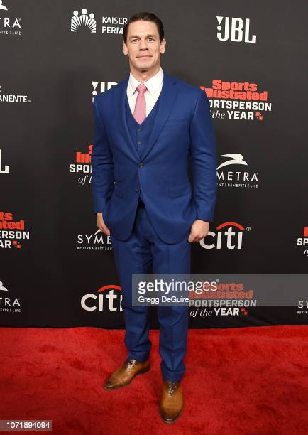 John Cena attends the Sports Illustrated Sportsperson Of The Year Awards at The Beverly Hilton Hotel on December 11, 2018 in Beverly Hills,...