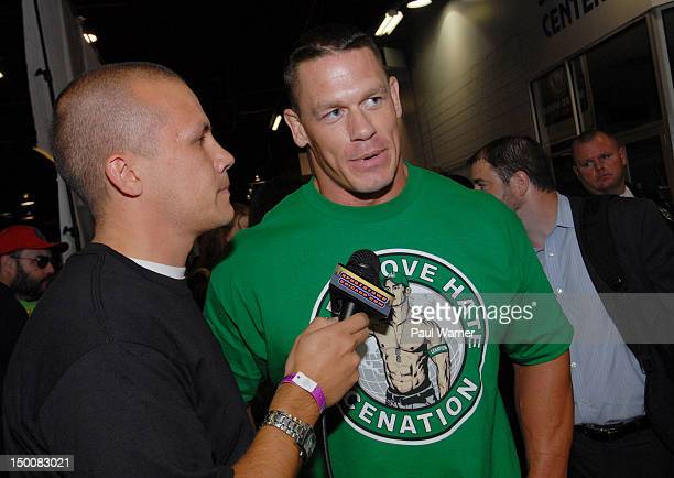 John Cena attends Wizard World Chicago Comic Con 2012 at Donald E Stephens Convention Center on August 9 2012 in Rosemont Illinois
