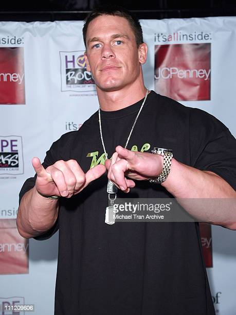 John Cena during Young Hollywood Says 'Hope Rocks' Concert to Benefit City of Hope Arrivals at Key Club in Los Angeles California United States