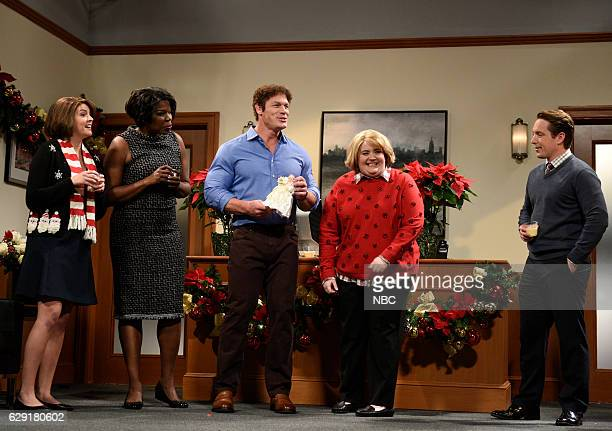LIVE John Cena Episode 1713 Pictured Cecily Strong Leslie Jones John Cena Aidy Bryant as Joanne and Beck Bennett during the Joanne The Tree sketch on...