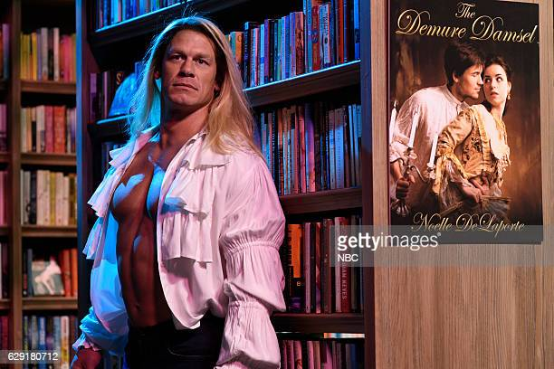 LIVE 'John Cena' Episode 1713 Pictured John Cena during the 'Romance Bookstore' sketch on December 10 2016