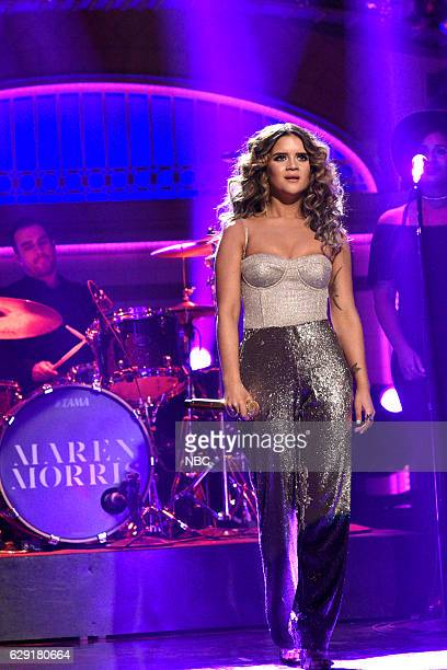 LIVE 'John Cena' Episode 1713 Pictured Musical guest Maren Morris performs on December 10 2016
