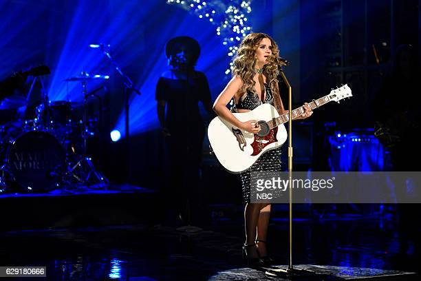 LIVE 'John Cena' Episode 1713 Pictured Musical guest Maren Morris performs on December 10 2016