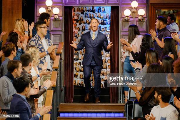 John Cena greets the audience during 'The Late Late Show with James Corden' Thursday December 14 2017 On The CBS Television Network