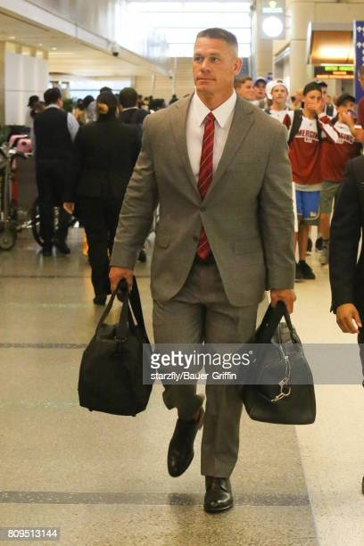 John Cena is seen at LAX on July 05 2017 in Los Angeles California
