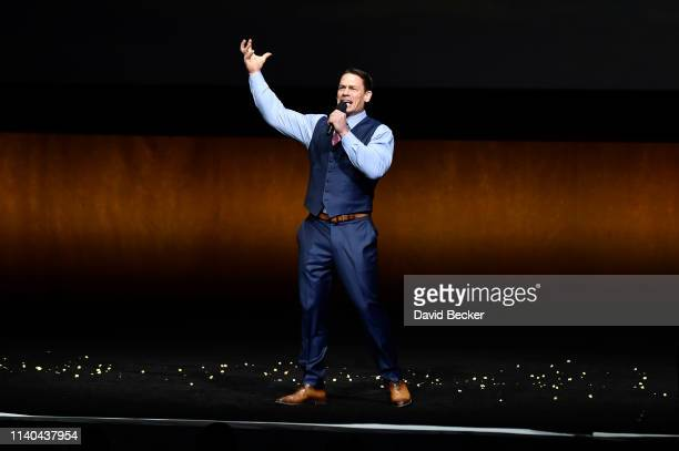 "John Cena of ""Playing with Fire"" attends the Paramount Pictures CinemaCon® 2019 Presentation held at The Colosseum at Caesars Palace on April 04,..."