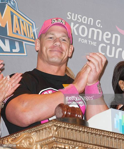 John Cena rings the NYSE Closing Bell at New York Stock Exchange on April 5 2013 in New York City