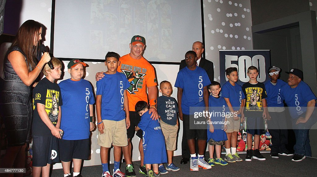 John Cena And Make-A-Wish Celebrate His 500th Wish Granting Milestone : News Photo