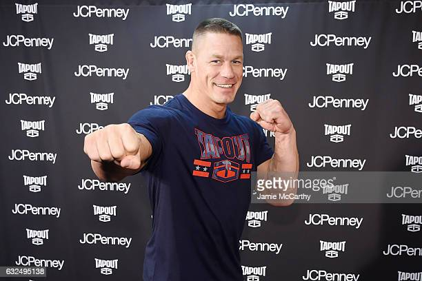 John Cena stops by the newest Tapout Fitness location in Herald Square to talk fitness and share his favorite looks from the Tapout fitness apparel...