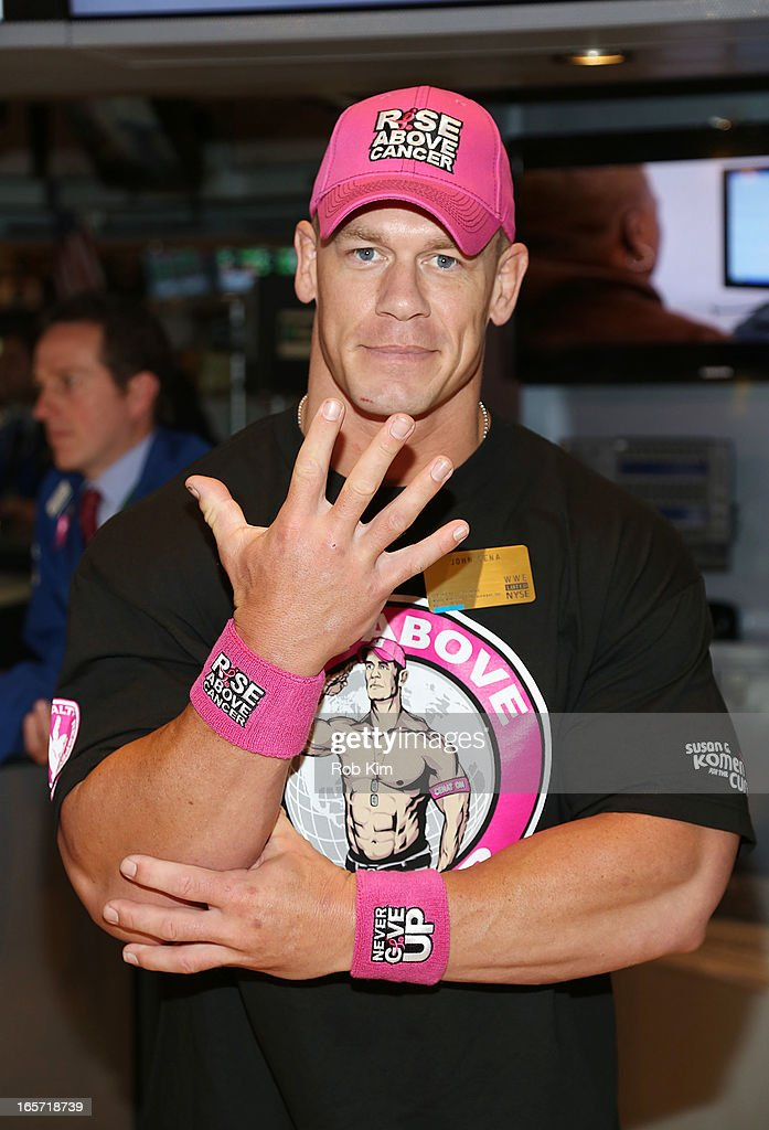 John Cena visits at New York Stock Exchange on April 5, 2013 in New York City.