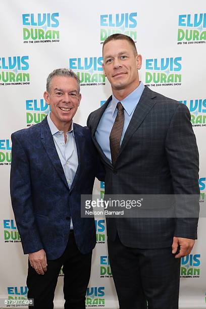 John Cena visits Elvis Duran at The Elvis Duran Z100 Morning Show at Z100 Studio on March 29 2016 in New York City