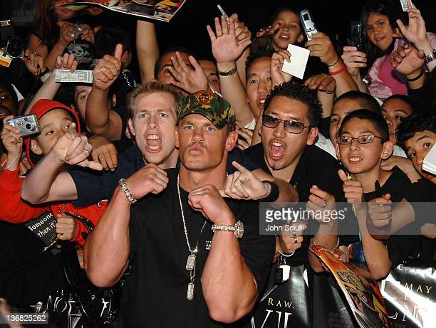 John Cena WWE Champion during See No Evil Premiere Arrivals in Los Angeles California United States