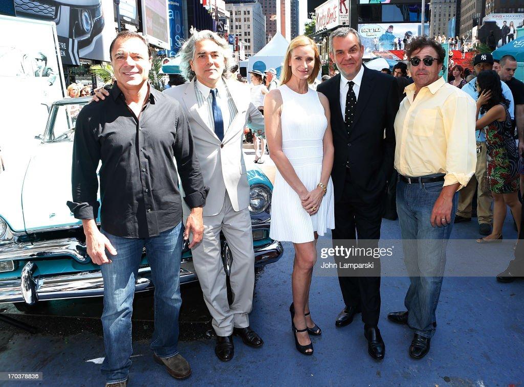 John Cenatiempo, Mitch Glazer, Kelly Lynch, Danny Huston and Yul Vazquez attend the 'Magic City' Season 2 premiere celebration in Times Square on June 12, 2013 in New York City.