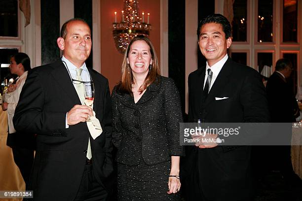 John Ceriale Anne Hersley and Mark Kamine attend BOCA RATON RESORT and CLUB ReLaunch Press Event at The Waldorf Astoria on October 7 2008 in New York...