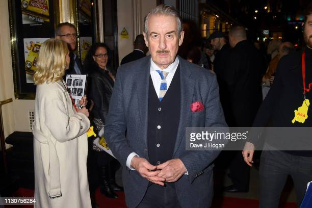 John Challis attends the opening night of Only Fools and Horses The Musical at Theatre Royal Haymarket on February 19 2019 in London England