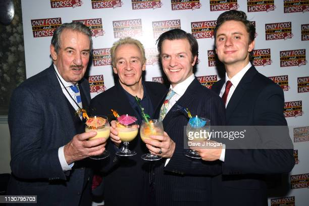 John Challis Paul Whitehouse Tom Bennett and Ryan Hutton attend the after show party following the opening night of Only Fools and Horses The Musical...